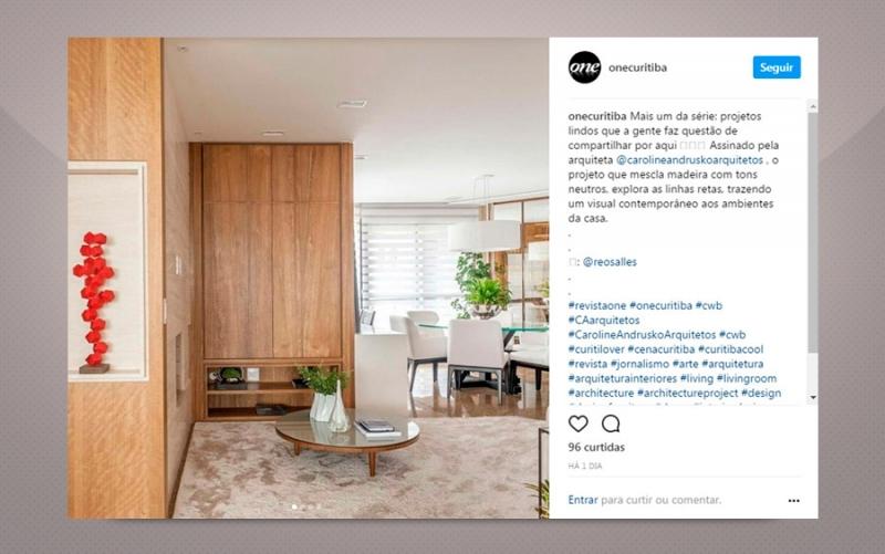 Projeto Natural - Revista One Curitiba - Caroline Andrusko Arquitetos